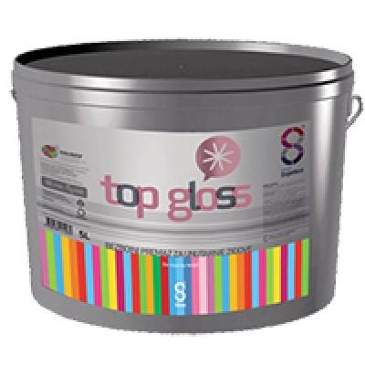 Top Gloss. Бесцветное моющееся покрытие для стен внутри помещений